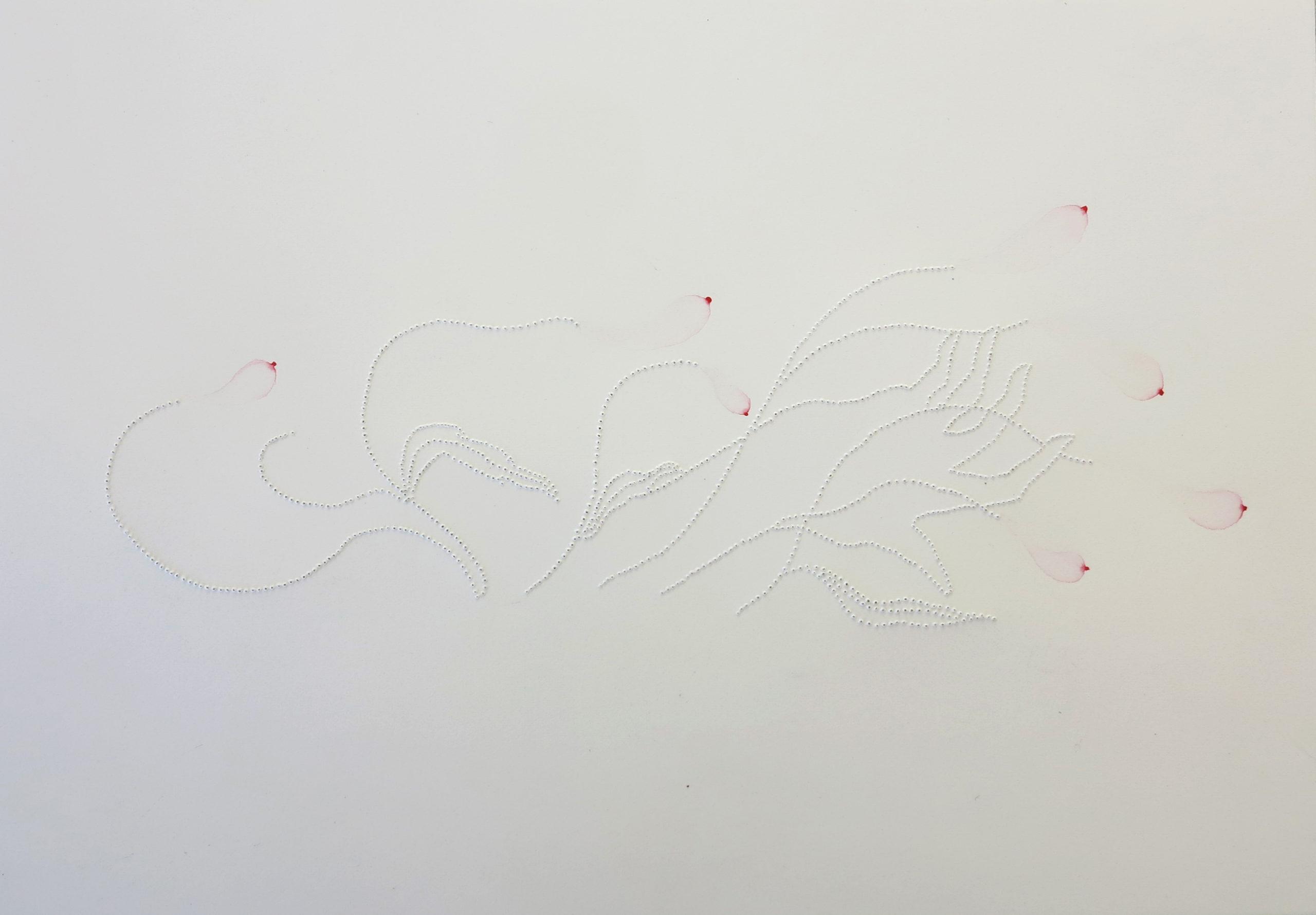 Les folles dans le vent, 2016, 18 x 26 cm